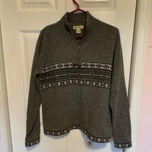 Eddie Bauer 1/4 zip Wool Sweater